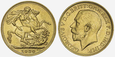 1920 Sydney Gold Sovereign