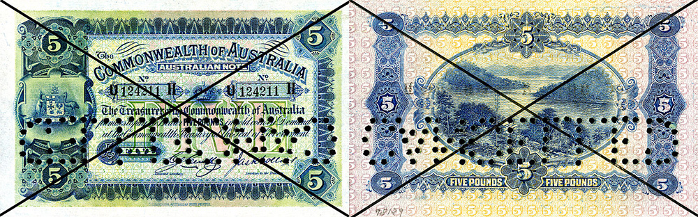 Five pounds 1913 to 1924 - Banknote of Australia