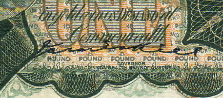 James Kell - Australian banknote signature