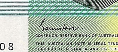 RA Johnston - Australian banknote signature