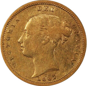 Half Sovereign - Young Head - Victoria