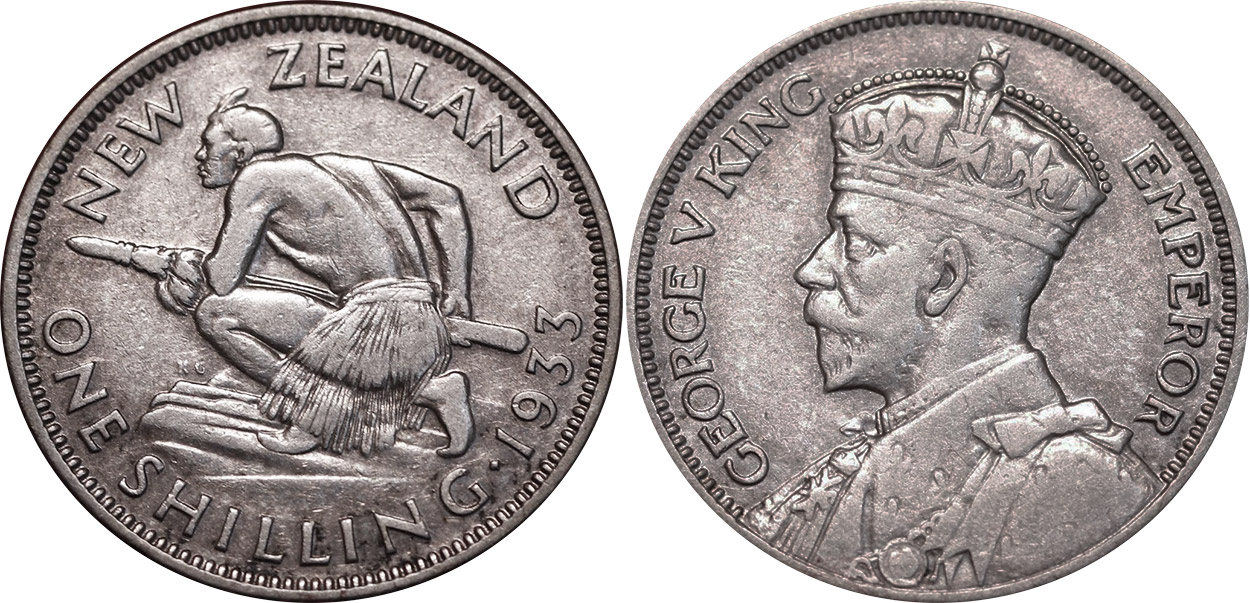 Shilling 1935 - New Zealand coin