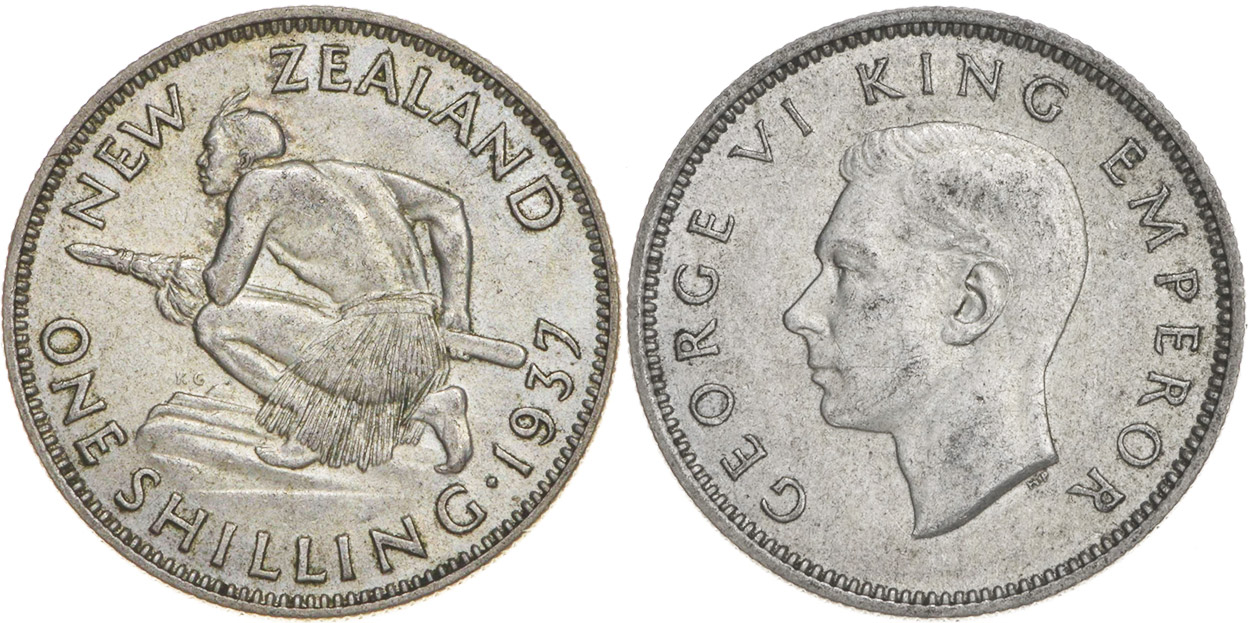 Shilling 1941 - New Zealand coin