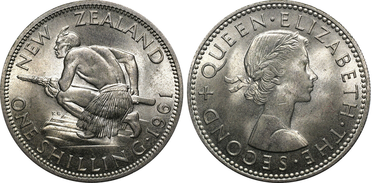 Shilling 1964 - New Zealand coin