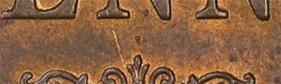 Penny 1920 - Dot above lower scroll - Pre-decimal coin