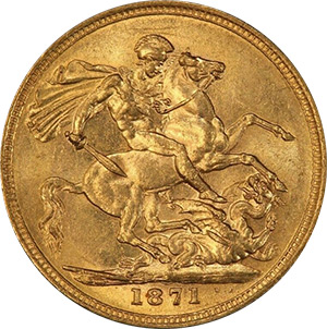 Sovereign - St. George Reverse - Victoria